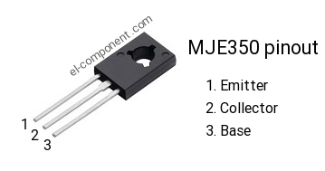 MJE350 p-n-p transistor complementary npn, replacement