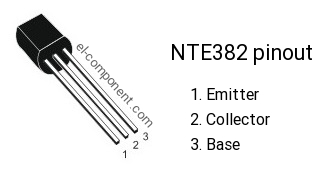 NTE382 n-p-n transistor complementary pnp, replacement