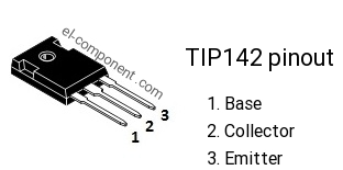 TIP142 npn transistor complementary pnp, replacement