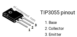 TIP3055 npn transistor complementary pnp, replacement