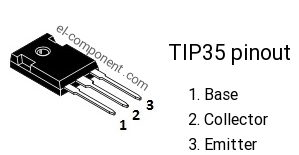 TIP35 npn transistor complementary pnp, replacement