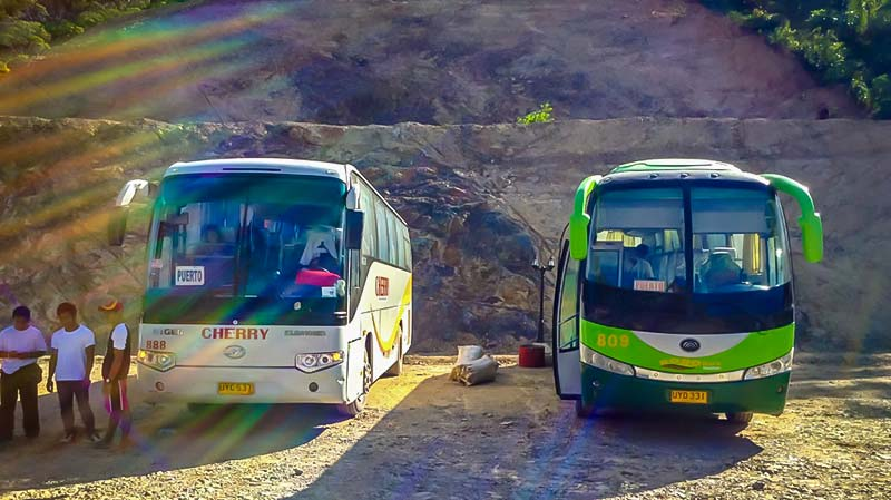 Cherry and Roro coaches between Puerto Princesa and El Nido
