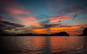 Sunset dinner from Cadlao island