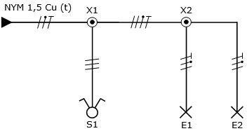 Stromlaufplan Zusammenhangende Darstellung Zeichnen