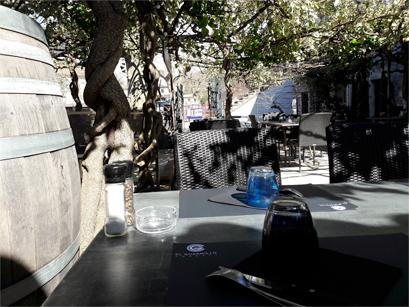 El Gusanillo concept restaurant et pizzéria à St Hippolyte du Fort - terrasse