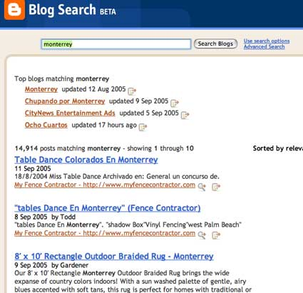 Contextually Searching the Global Blogosphere