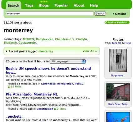 technorati search monterrey