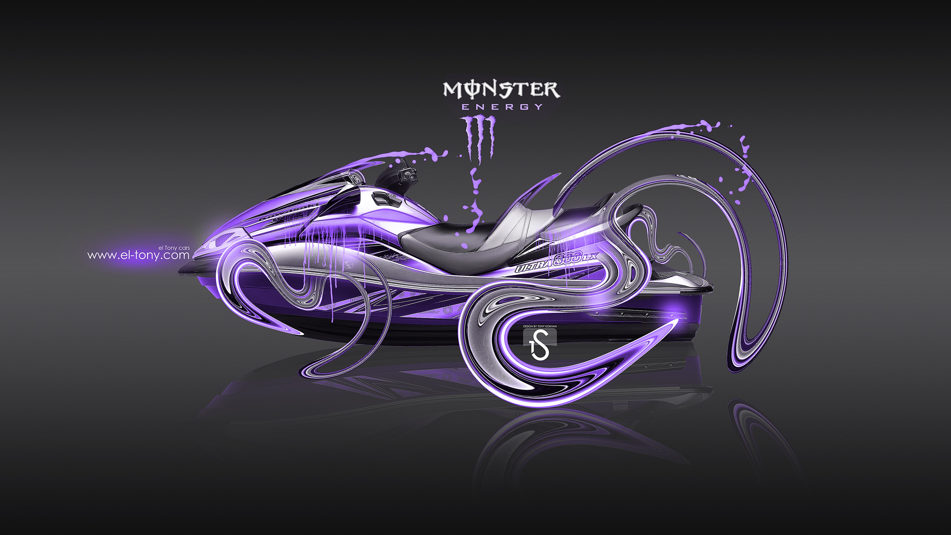 Monster Energy 3d Live Wallpaper Monster Energy Jetski Kawasaki Ultra 300lx Plastic Moto