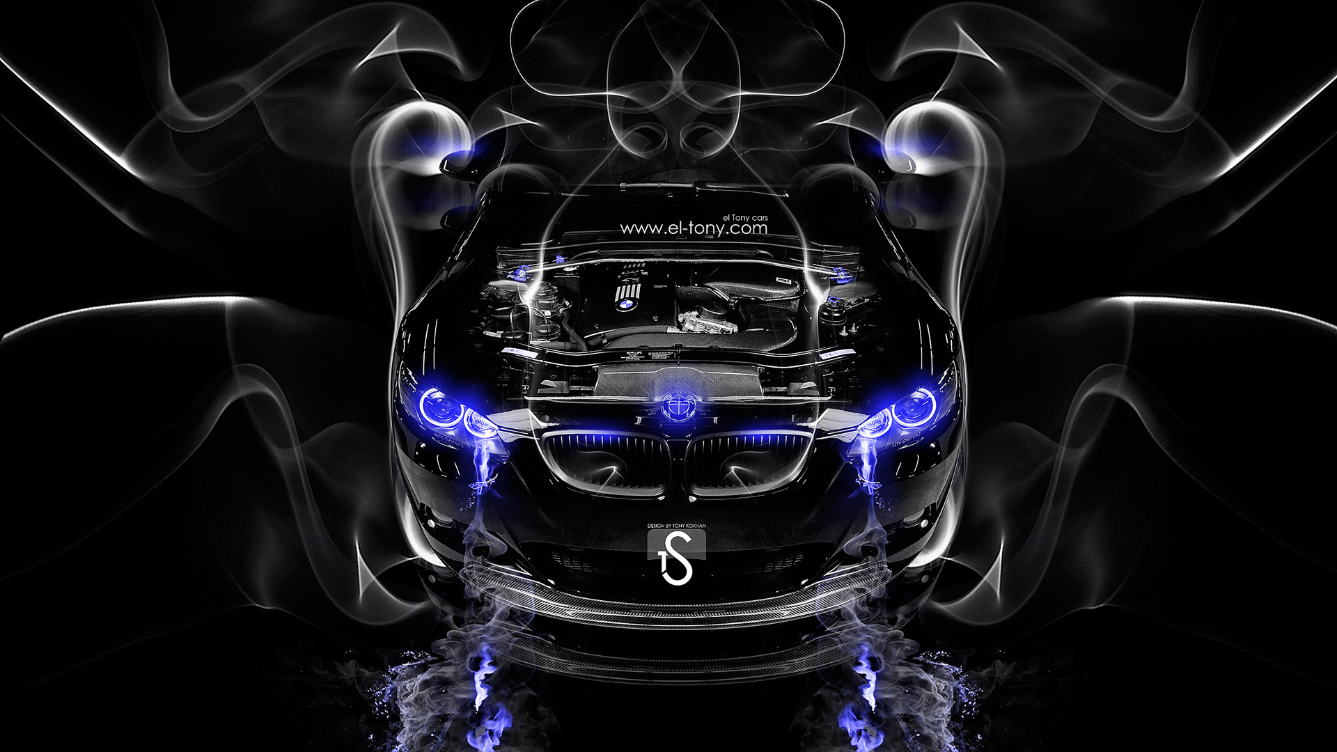 Muscle Car 3d Live Wallpaper Bmw M3 Engine Smoke Car 2014 El Tony