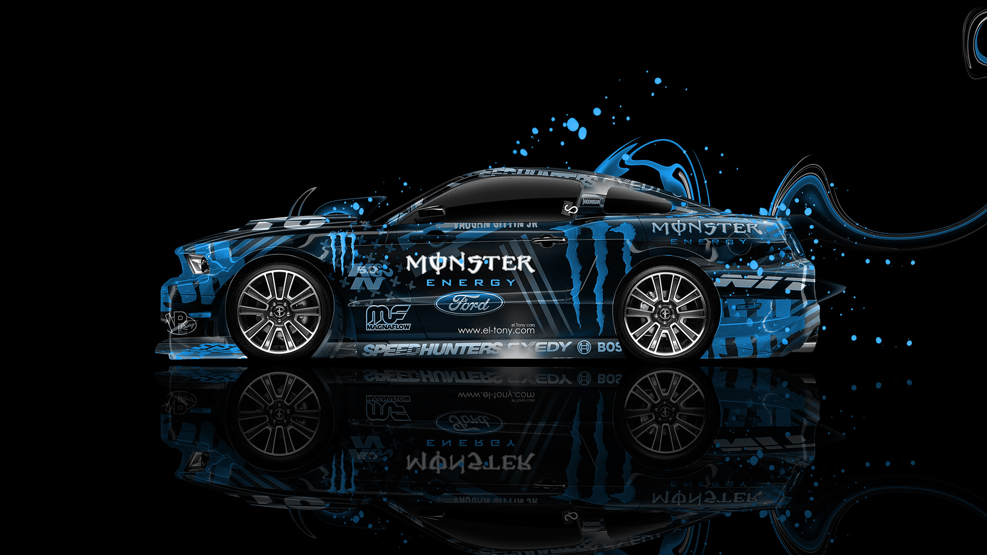 Muscle Car Wallpaper Backgrounds Monster Energy Ford Mustang Gt Side Plastic Car 2014 El Tony