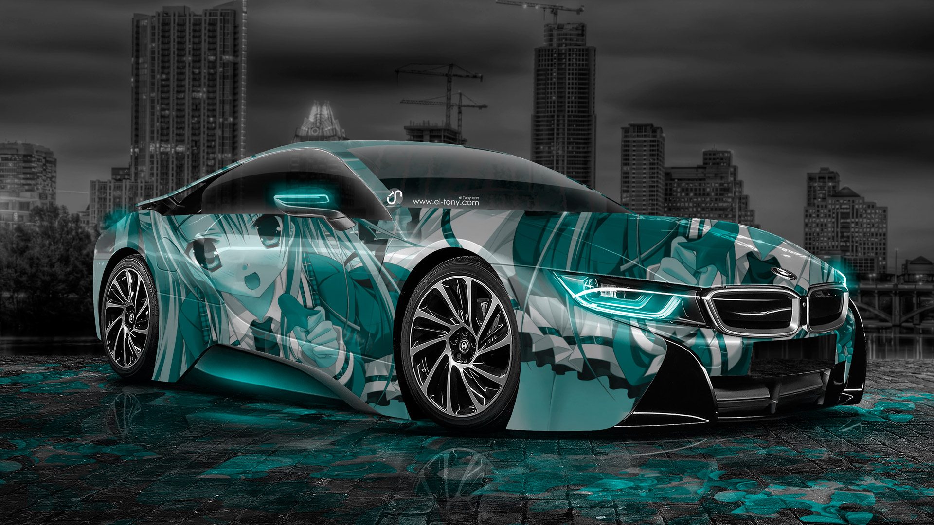 Bugatti Car Wallpaper Pink Bmw I8 Anime Aerography City Car 2014 El Tony