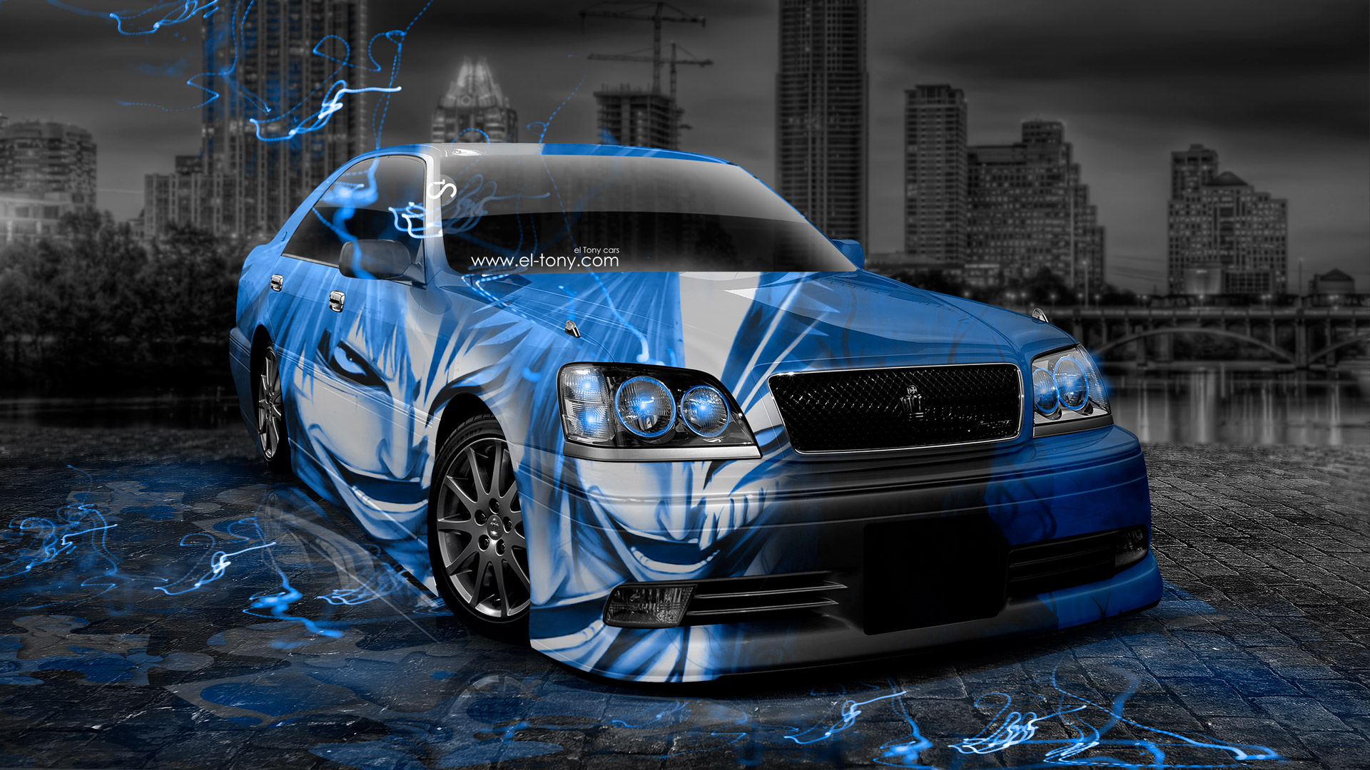 Exceptionnel Toyota Crown Athlete Jdm Anime Bleach Aerography City Car 2017