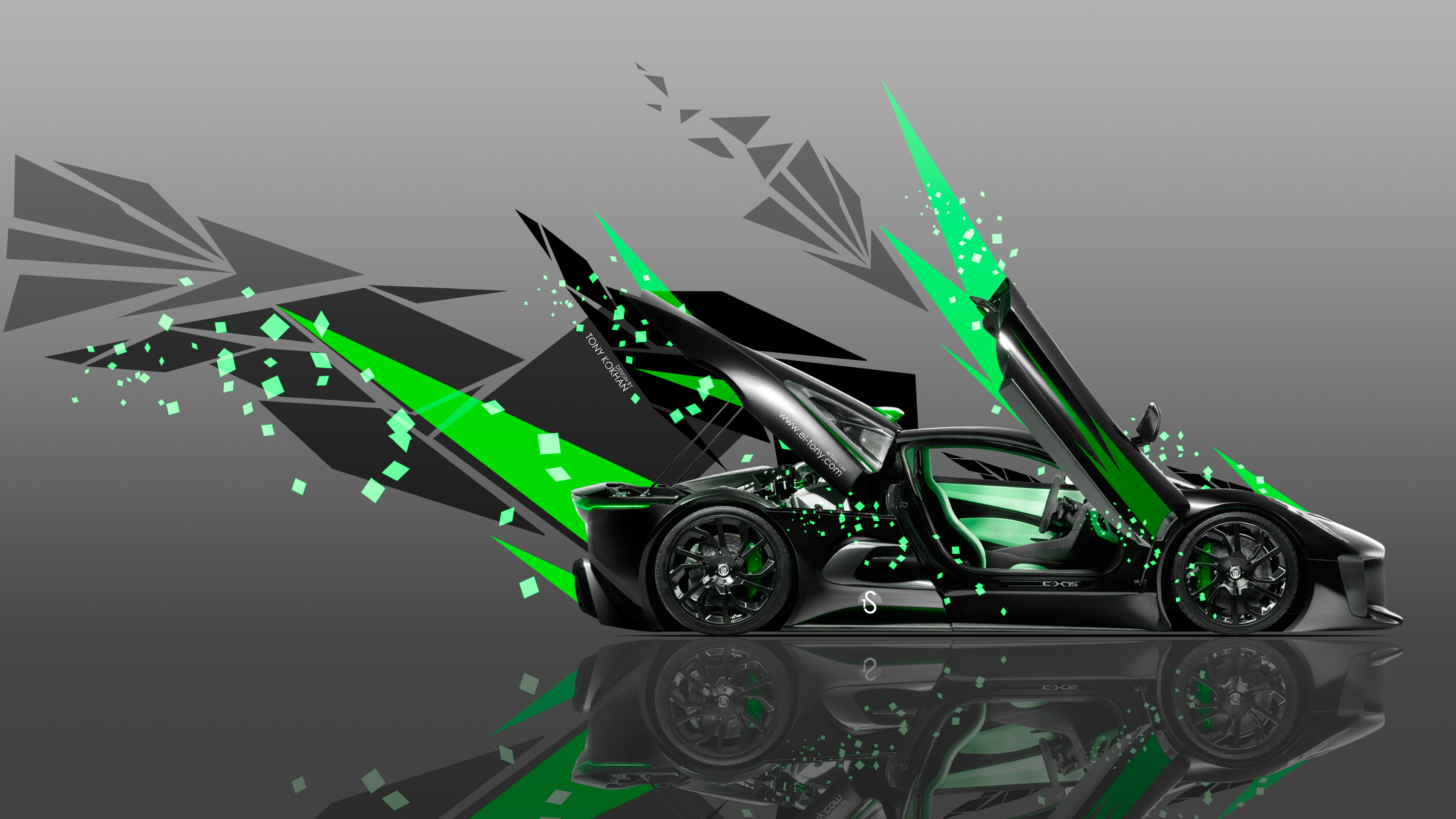 Transformers Fall Of Cybertron Wallpaper 1920x1080 4k Jaguar C X75 Side Abstract Transformer Car 2014 El Tony