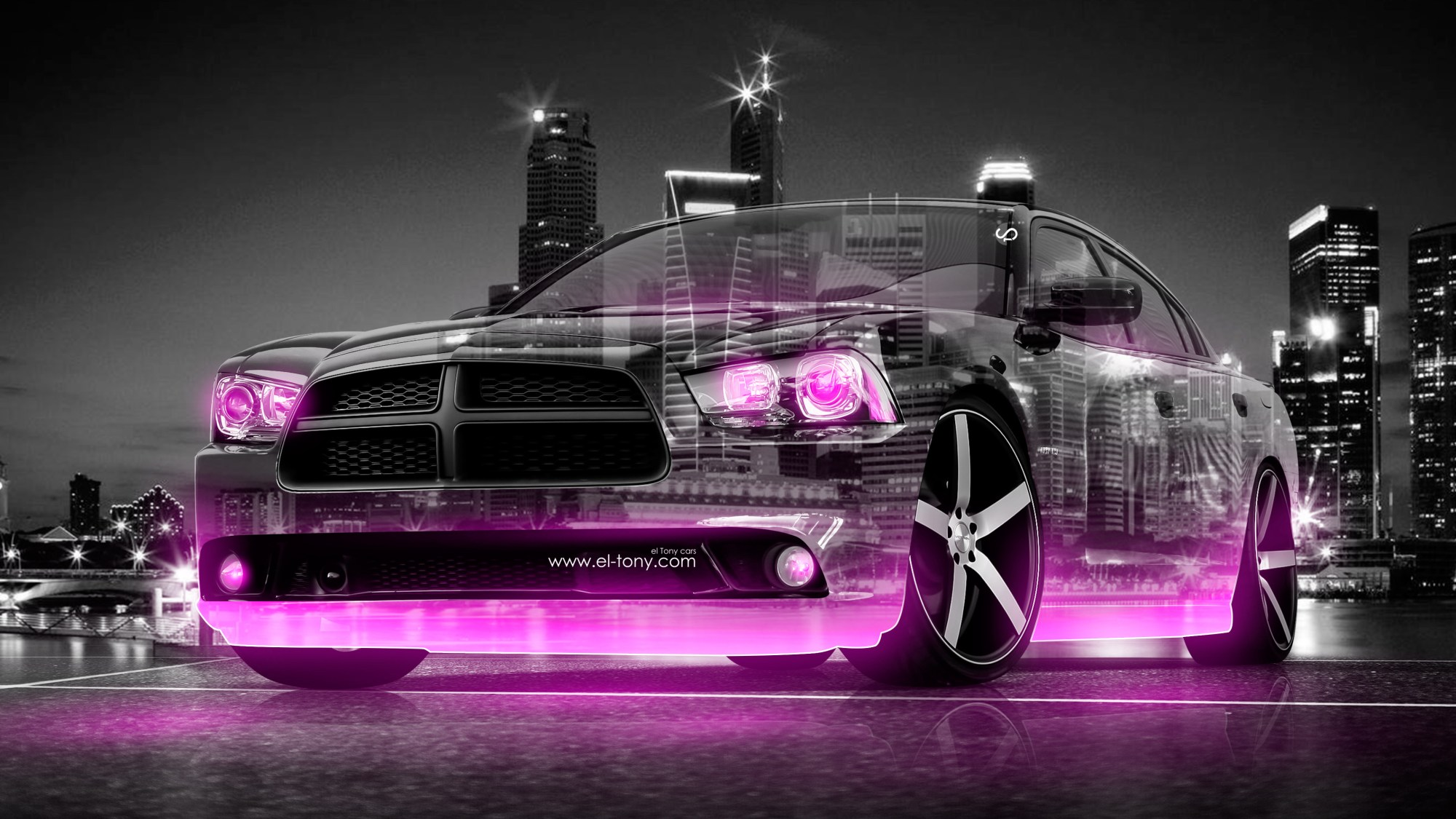 hight resolution of dodge charger rt muscle 3d crystal city