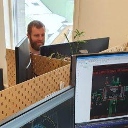 Eirik på jobb