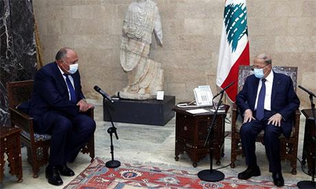 وزير الخارجية المصري يشدد على أهمية الإسراع بتشكيل حكومة تكنوقراط لبنانية