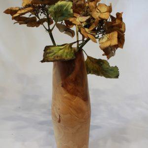Vase aus Apfelholz