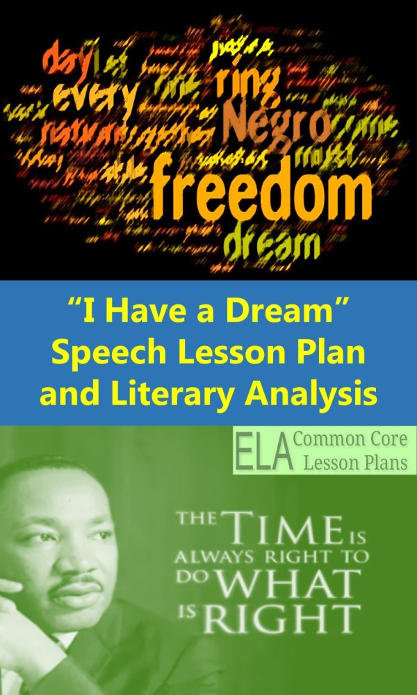 "Martin Luther King' "" Dream"" Speech Lesson Plan"