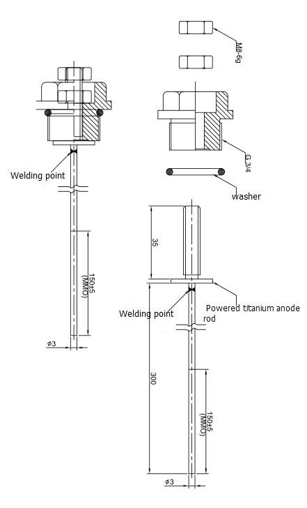 China Powered Titanium Water Heater Anode Rod