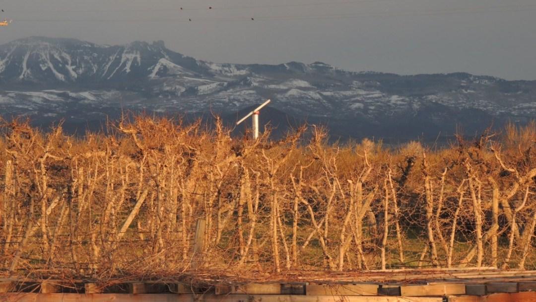 Windmachine and mountains