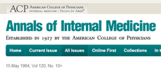 Annals of Internal Medicine, May 1994