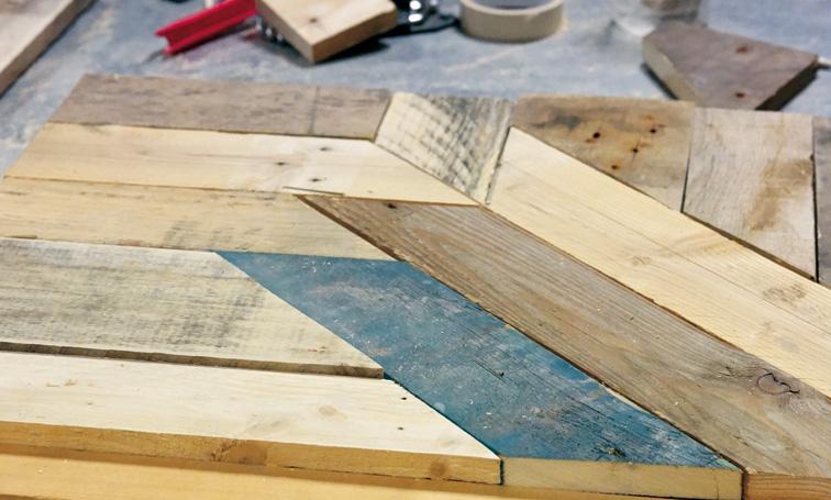 Plateau de table palettes