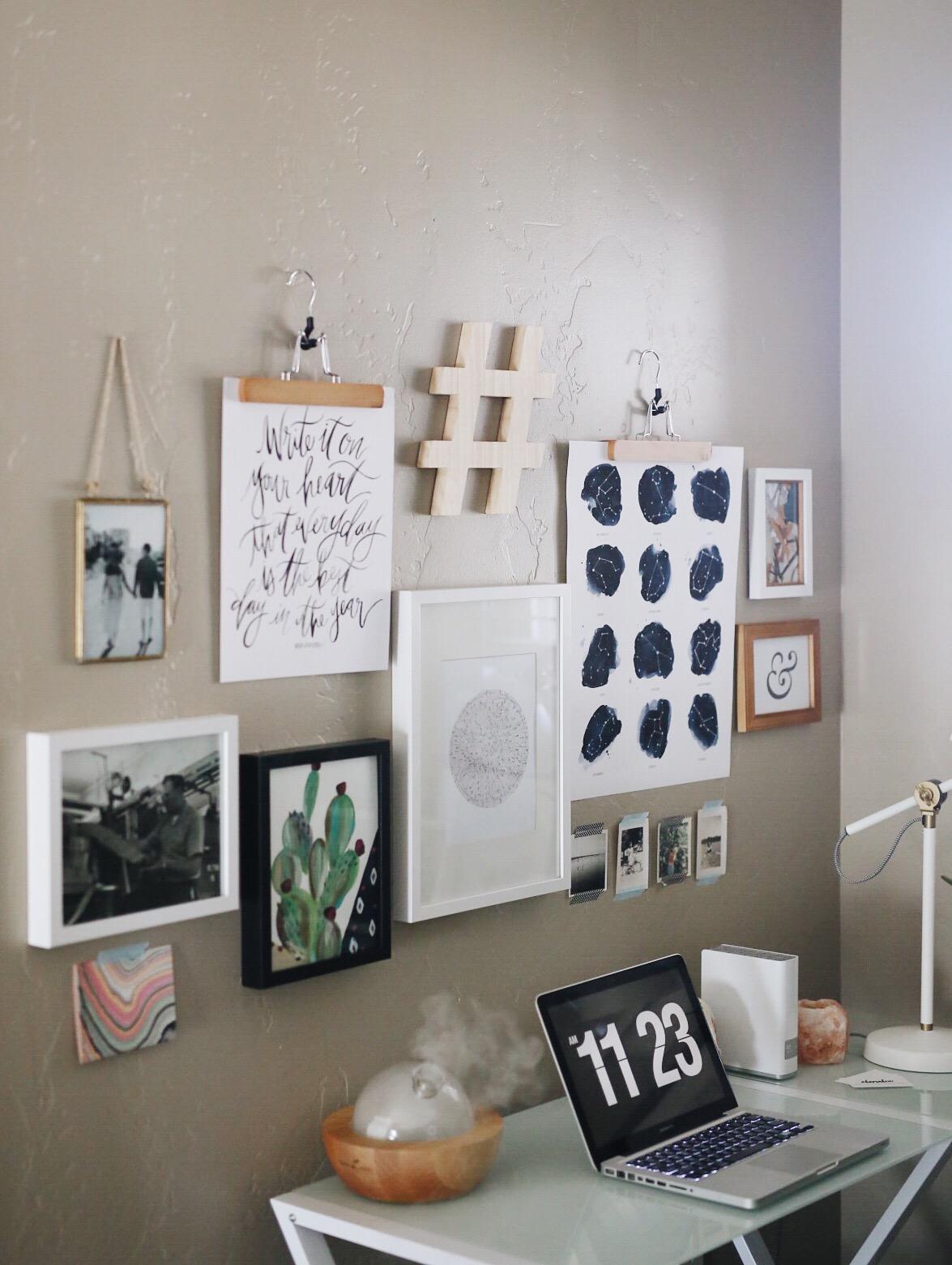 Frame Wall Idea | Creative Entrepreneur | Office Makeover | elanaloo.com