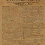 La Liga de Obreros y Artesanos: La Primera Agrupación Socialista de la República Dominicana