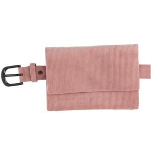 Roze fluwelen Heuptas voor dames voor