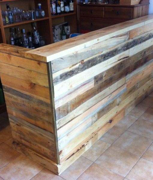 Muebles a medida muebles a medida restaurados el for Bar con madera reciclada