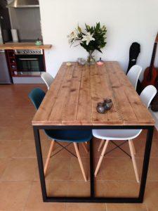 Mesas industriales la ultima moda muebles Mesas industriales vintage