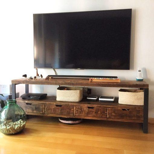 mueble-tv-estilo-industrial-cajones