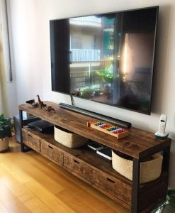 Muebles vintage muebles estilo industrial a medida el for Muebles tv industrial