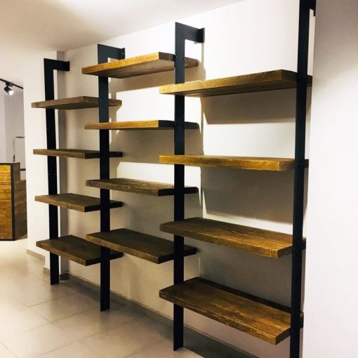 Muebles industriales a medida tienda restauraci n el - Estanterias para bares ...