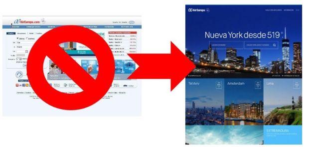 Nueva Web de Air Europa