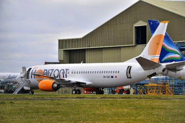 Corona de Aragón, el primer 737-400 de Air Horizont