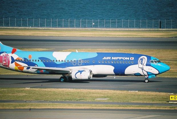 737-400 disfrazado de delfín (Hideyuki KAMON Flickr)