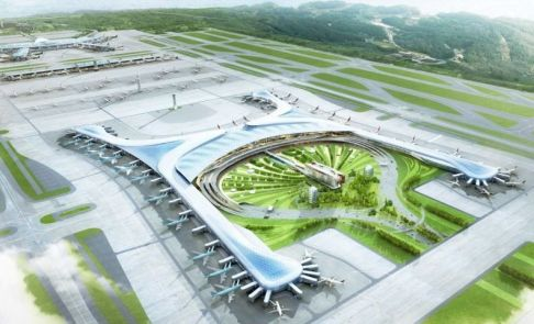 Render del Aeropuerto de Incheon una vez terminada su ampliación. (Gensler.com)