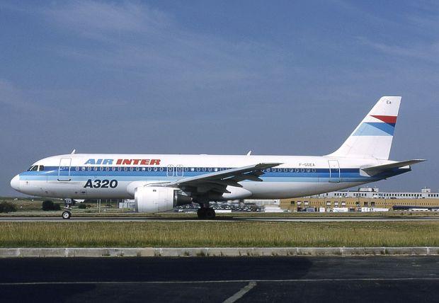 Uno de los pocos A320-100 en 1991 (Michel Gilliand)