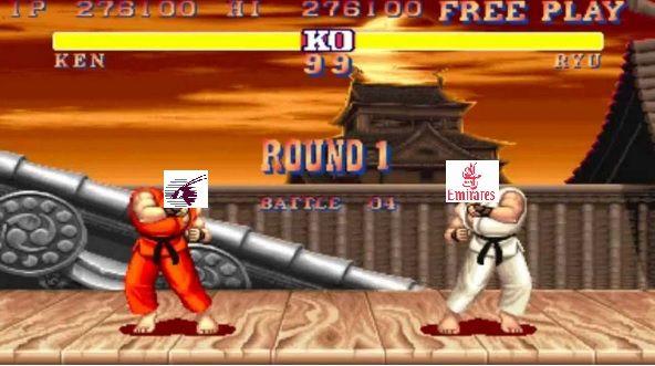 Qatar Ken vs Emirates Riu. Round One... FIGHT!