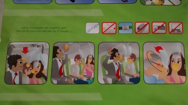 Kulula safety card indications