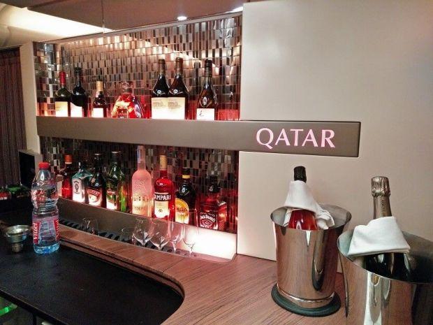 A380 business lounge Qatar