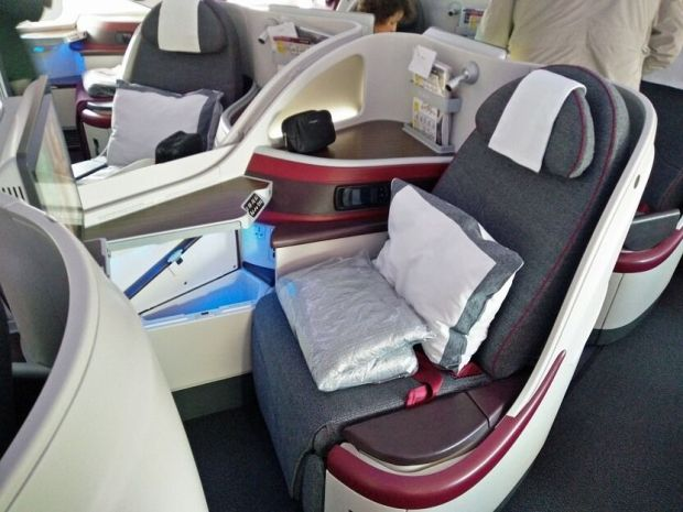 Asiento a380 qatar business