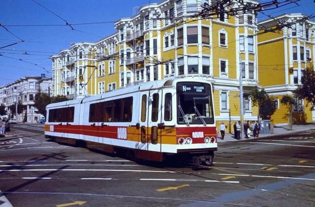 Un Boeing LRV en San Francisco (1980). (Foto: Steve Morgan).