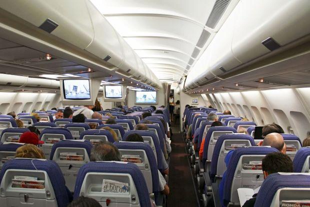 Clase turista del A343 sin IFE individual.