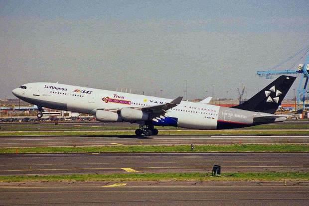 First A340 Lufthansa