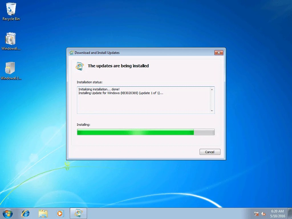 Windows What 7 Updates Security