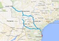 Mapa da viagem 1987