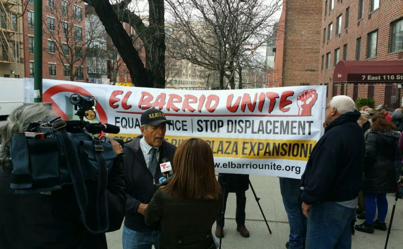 El Barrio Unite Holds Press Conference and Protest