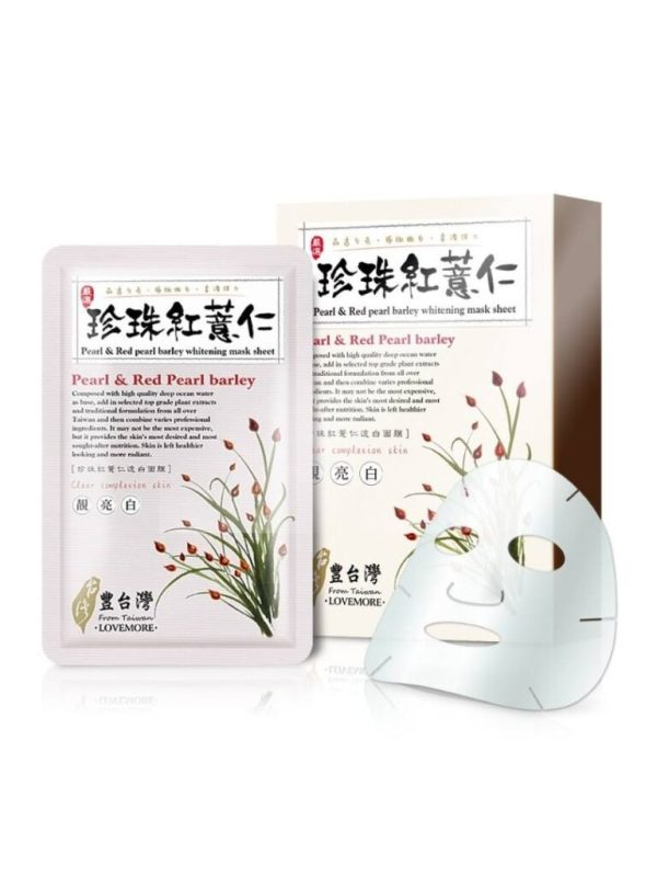 lovemore pearl and red pearl barley sheet mask from taiwan